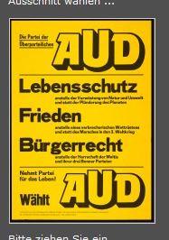 AUD Bundestagswahl 1976