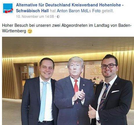 AfD-MdL als Trump-Fans