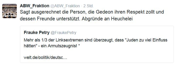 Tweet gegen Petry