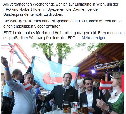 AfDler auf Hofers Wahlparty Screenshot