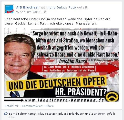 AfD Bruchal goes Identitäre