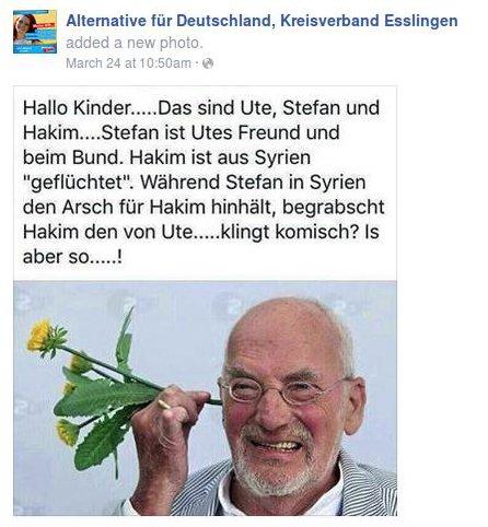 AfD Esslingen rassistische Klischees