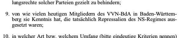 AfD-Anfrage zur VVN Mitgliederzahl