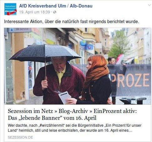 AfD Ulm pro Ein Prozent