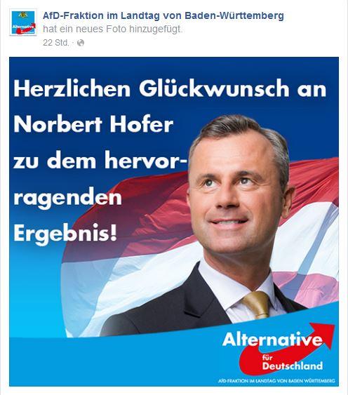 AfD BaWü pro Norbert Hofer