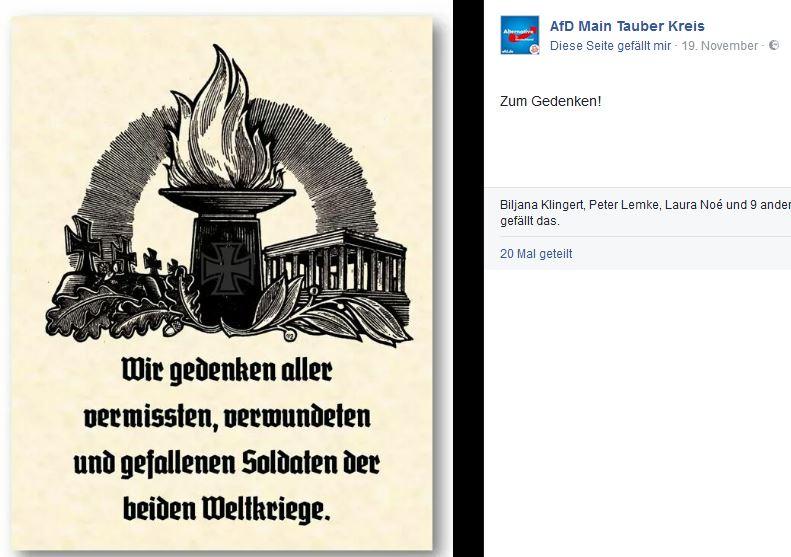 AfD Main-Tauber Volkstrauertag-Post