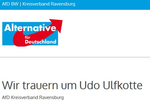 AfD Ravensburg trauert um Ulfkotte