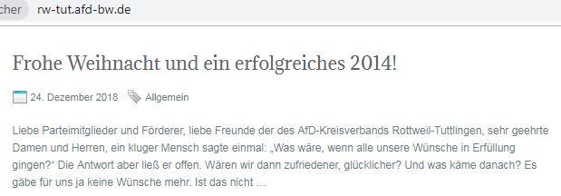AfD Rottweil-Tuttlingen lebt in Vergangenheit