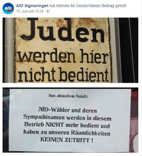 AfD Sigmaringen banalisiert Holocaust