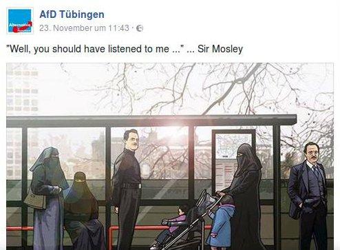 Mosley-Sympathie bei AfD Tübingen