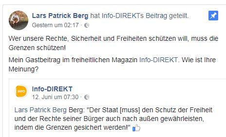 Lars-Patrick Berg als Autor für Info-DIREKT