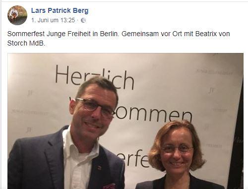 Lars-Patrick Berg auf JF-Sommerfest 2018