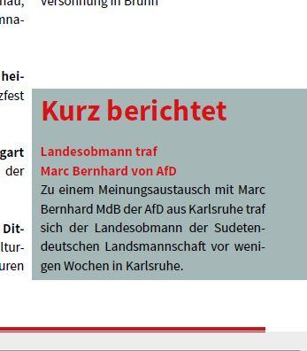 Bernhard (AfD-MdL) trifft Sudetendeutsche