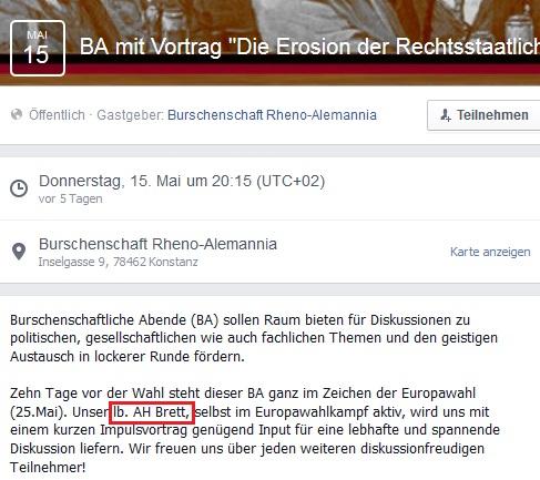 Alter Herr Eberhard Brett