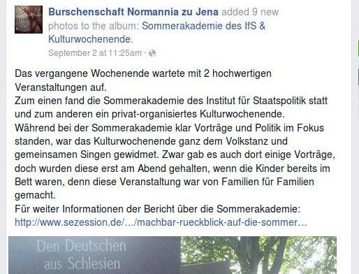 Normannia Jena beim IfS