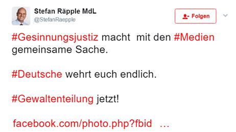 Räpple: Deutsche wehrt euch