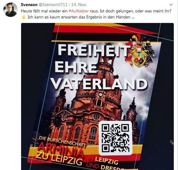 Sven Uwe Epple mach Flyer für Burschenschaft Arminia