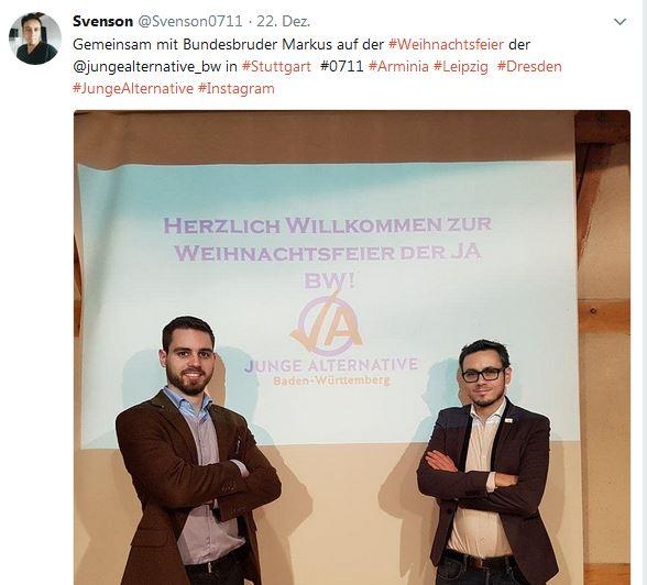 Sven Uwe Epple mit Bundesbruder der Burschenschaft Arminia Leipzig