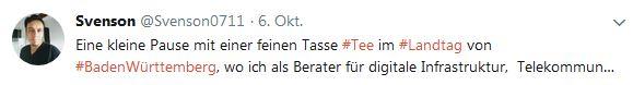 Sven Uwe Epple als Mitarbeiter der AfD-Landtagsfraktion BaWü