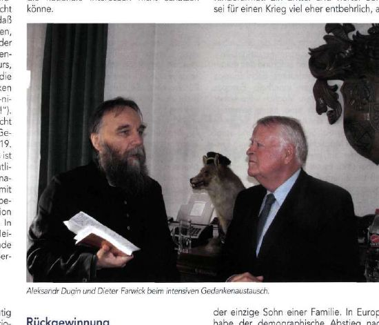 Farwick meets Dugin