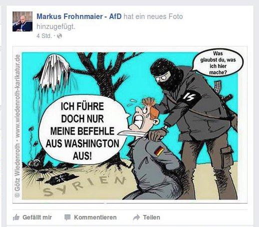Frohnmaier antiamerikanische Verschwörungstheorie
