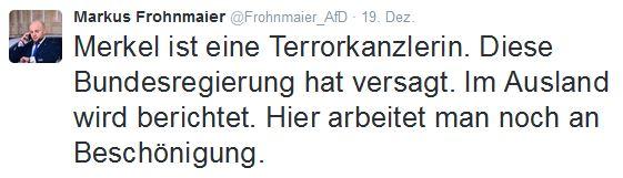 Frohnmaier: Merkel als