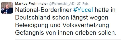 Frohnmaier gegen Yücel II