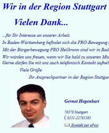 Gernot Hegenbart, Pro Stuttgart