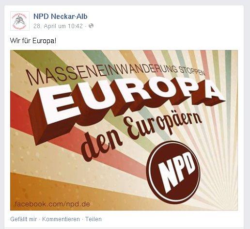 NPD-Parole Europa den Europäern
