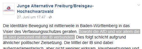 JA Freiburg und Identitäre
