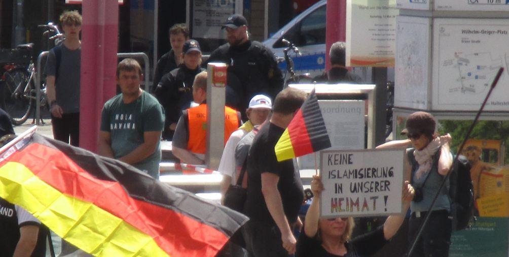 JA-Kundgebung in Stuttgart
