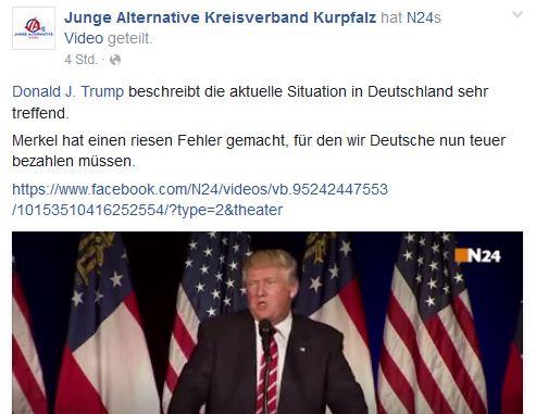 JA Kurpfalz pro Trump
