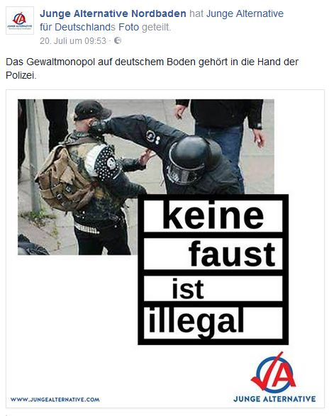 AfD pro Polizeigewalt