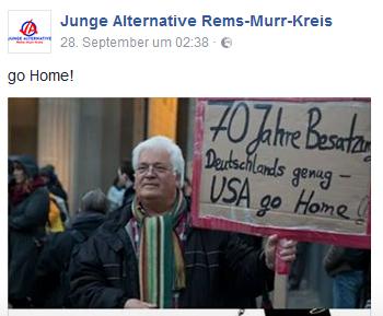 JA Rems-Murr antiamerikanisch
