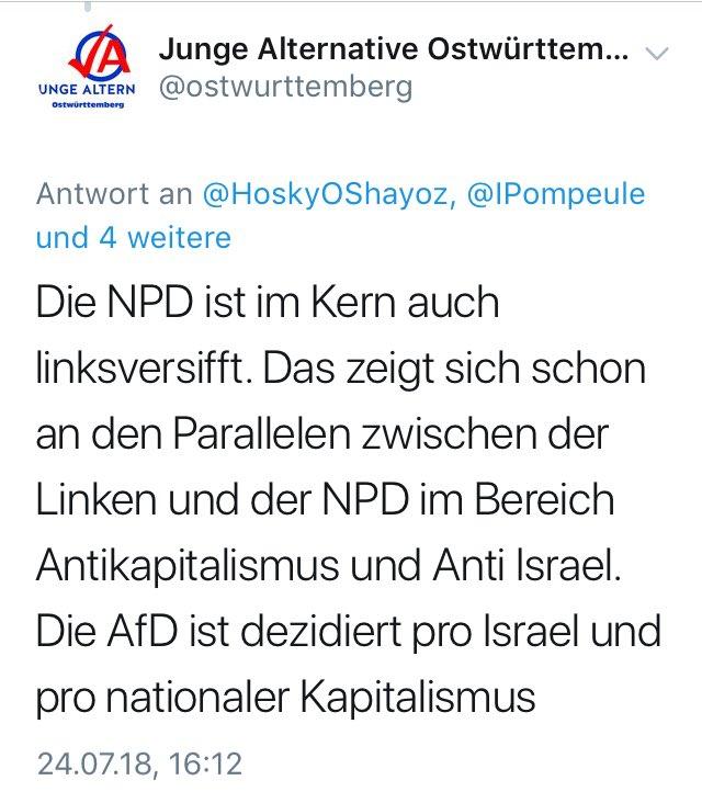 JA Ostwürttemberg: NPD linksversifft