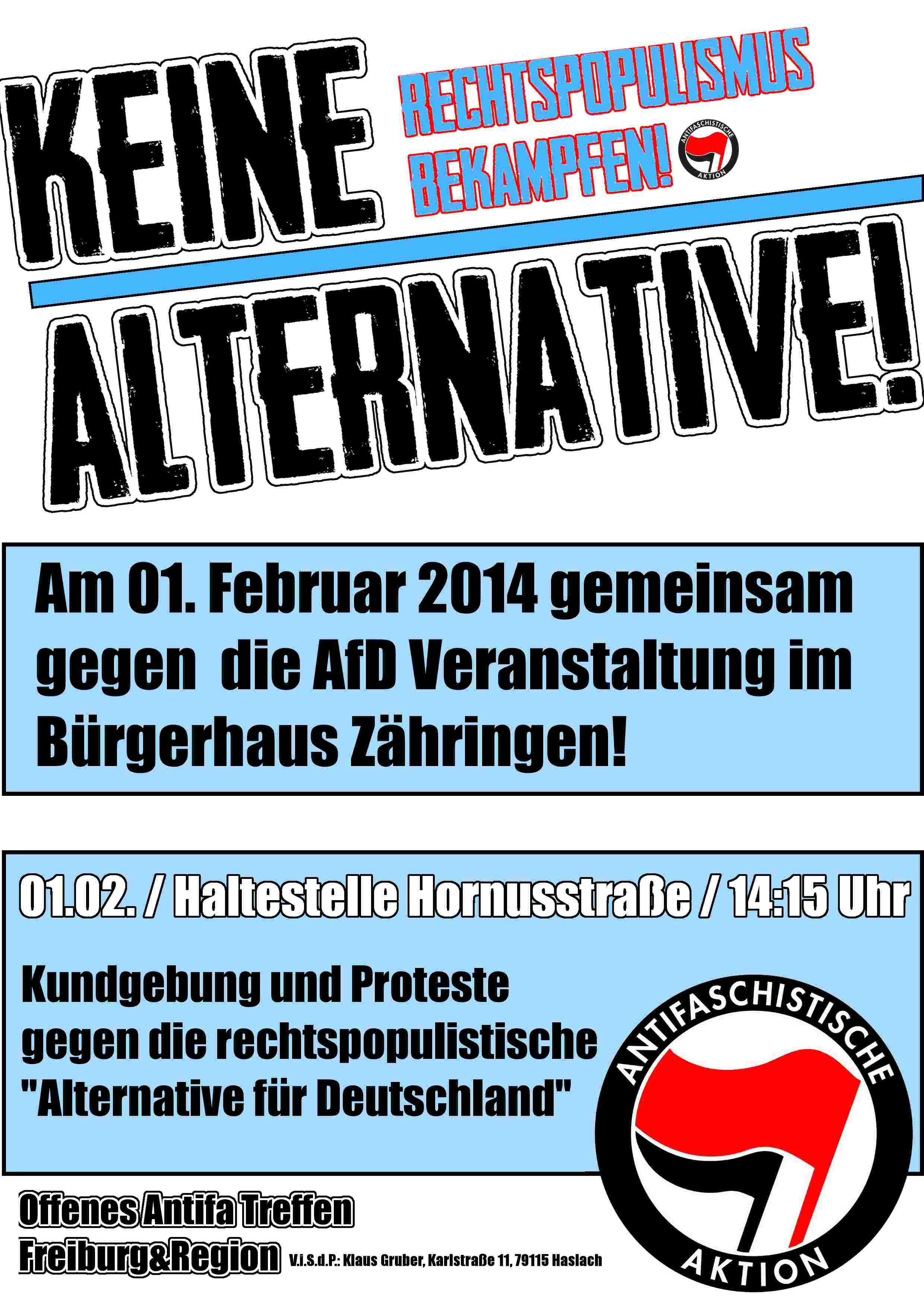 Keine falsche Alternative in Freiburg!