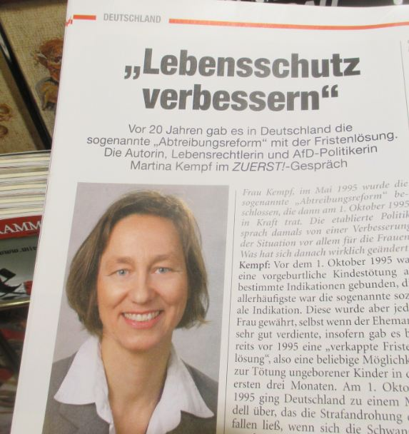 Martina Kempf im Interview mit Zuerst