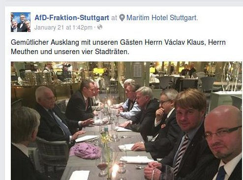 Klaus bei der AfD in Stuttgart, Screenshot