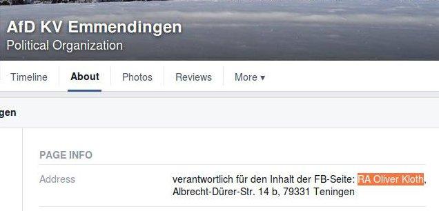 Kloth AfD-Facebook-Verabntwortlicher Emmendingen