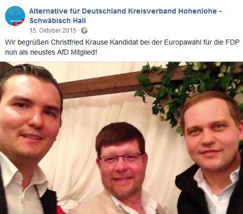 Christfried Krause von der FDP zur AfD