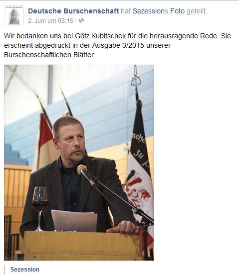 Kubitschek als Redner bei der DB