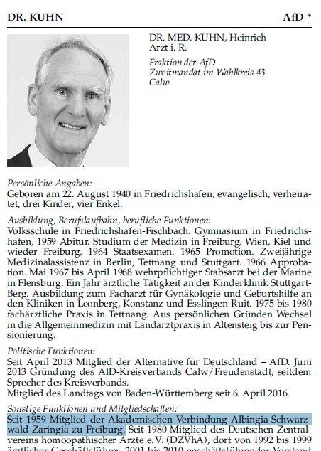 Heinrich Kuhn korporiert