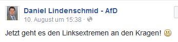 Lindenschmid will Linksextremisten an den Kragen