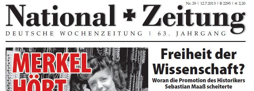 National-Zeitung pro Maaß