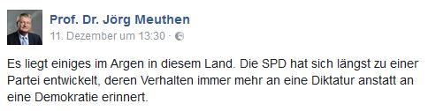 Meuthen wirft SPD Diktatur vor