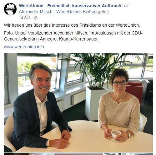 Mitsch und Annegret Kramp-Karrenbauer