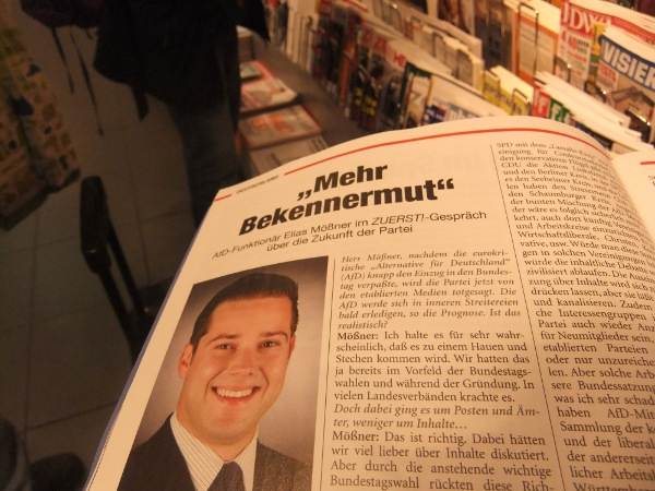 Mößner als Zuerst-Interviewpartner