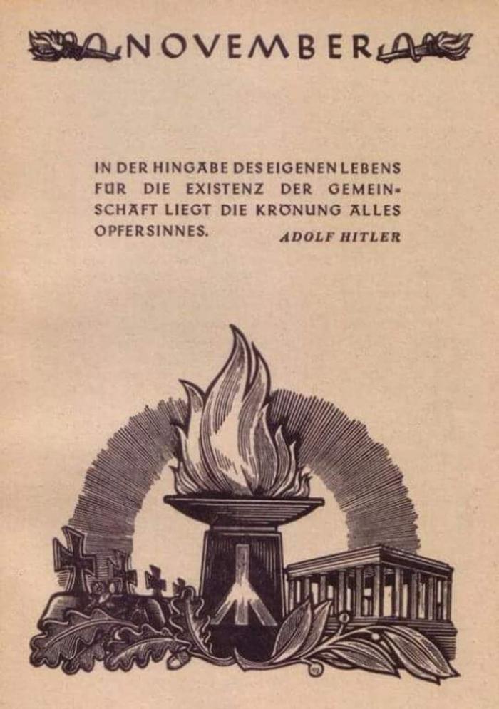 Volkstrauertag Nazi-Postkarte