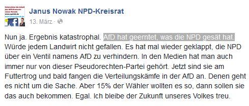 NPD-BaWü zum AfD-Wahlerfolg