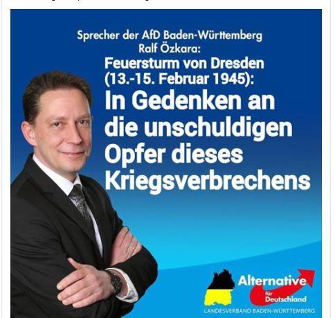 Özkara nennt Bombardierung Dresdens